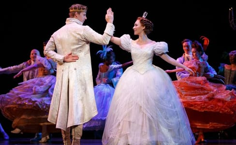 Eric Anthony Johnson and Kaitlyn Davidson from the Rodgers + Hammerstein's Cinderella tour, seen at The Kennedy Center (Photo © Carol Rosegg)