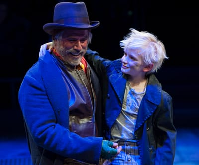 (l-r) Jeff McCarthy as Fagin and Jake Heston Miller as Oliver in Oliver! at Arena Stage at the Mead Center for American Theater (Photo: Margot Schulman)