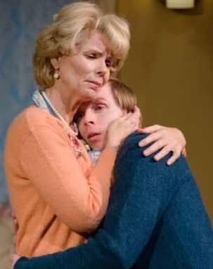 Claire Schoonover and Matthew Aldwin McGee in Entertaining Mr. Sloane (Photo: Johannes Markus)