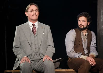 (l-r) Richard Thomas and Jonny Orsini in Arthur Miller's Incident at Vichy at Signature Theatre, New York. (Photo: Joan Marcus)