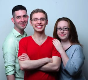 Thanks to the founders of No Rules Theatre Company: (l-r) Brian Sutow, Joshua Morgan and Anne S. Kohn