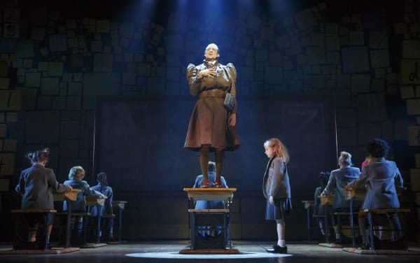 Bryce Ryness and Mabel Tyler with the Company of Matilda the Musical First National Tour (Photo: Joan Marcus)