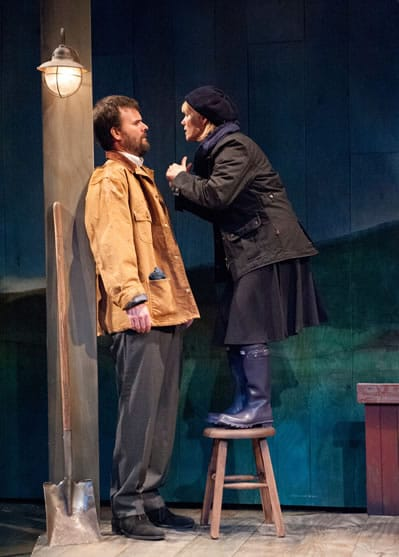 Tim Getman as Anthony and Beth Hylton as Rosemary in John Patrick Shanley's Outside Mullingar at Everyman Theatre (Photo: Stan Barouh)