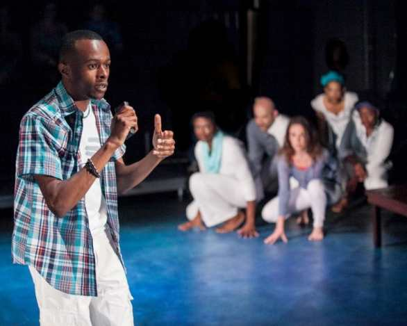 Justin Weaks and the cast of Dontrell, Who Kissed the Sea at Theater Alliance (Photo: C. Stanley Photography)