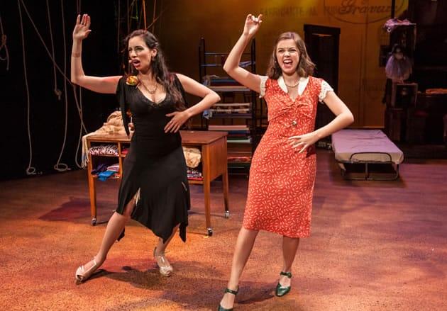 Ana Fontán and Samantha Dockser in Las Polacas at GALA Hispanic Theatre. (Photo: Lonnie Tague)