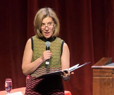 Lisa S. Blatt of Arnold & Porter LLP as Moderator of the Shakespeare Theatre Company Bard Association's Trial of Salomé. (Photo: Kevin Allen)