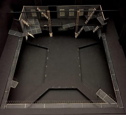 Top down view of Misha Kachman's set design for West Side Story at Signature Theatre