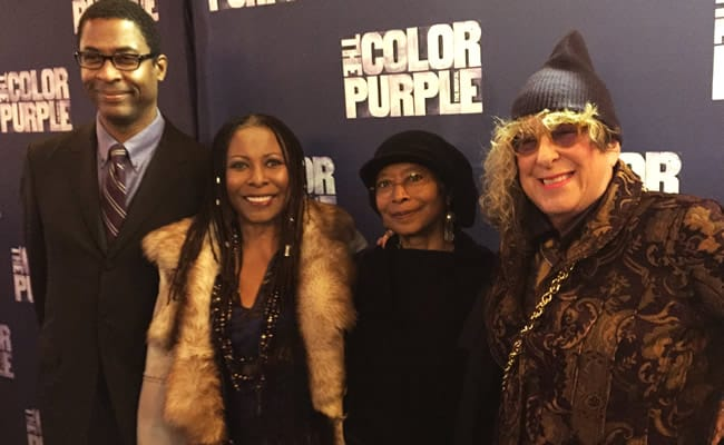 Stephen Bray, Brenda Russell, Color Purple novelist Alice Walker, and Allee Wilson (Photo courtesy of Allee Wilson)