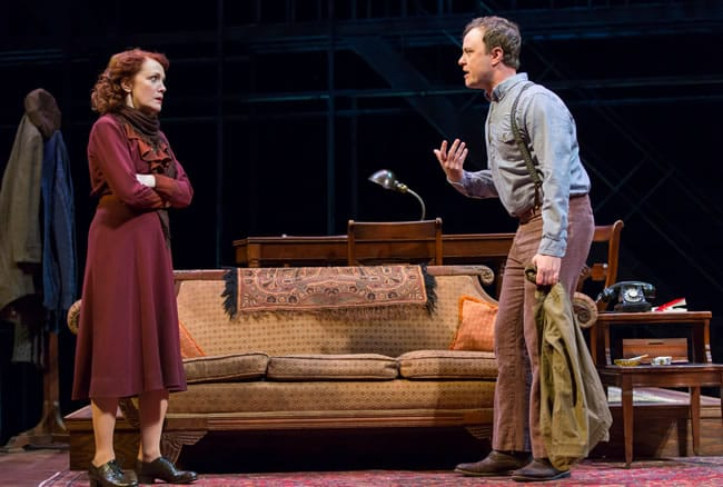 Madeleine Potter as Amanda and Tom Story as Tom in the Ford's Theatre production of The Glass Menagerie (Photo: Scott Suchman)