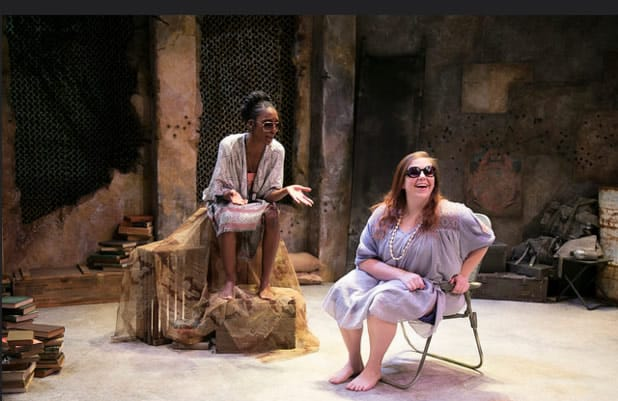 """Katie Hileman and Shannon L. Graham in """"Hang Ten"""" part of Antigone Project at Rep Stage (Photo: Katie Simmons-Barth)"""