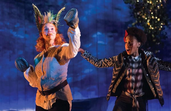 Holly Twyford and Monique Robinson in A Midsummer Night's Dream at Folger Theatre (Photo: Teresa Wright)