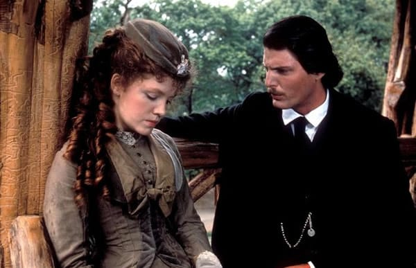 Madeleine Potter with Christopher Reeves in Merchant Ivory's film The Bostonians