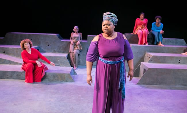 (l-r) Natalie Tucker, Kashayna Johnson, Naomi LaVette, Lolita Marie, Christa Bennett in for colored girls... by Theater Alliance