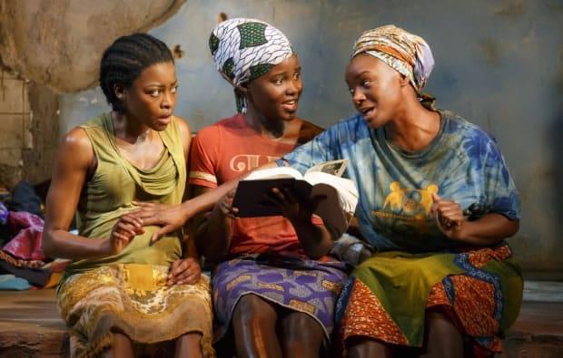 (l-r) Pascale Armand, Lupita Nyong'o, and Saycon Sengbloh star in Danai Gurira's Eclipsed.