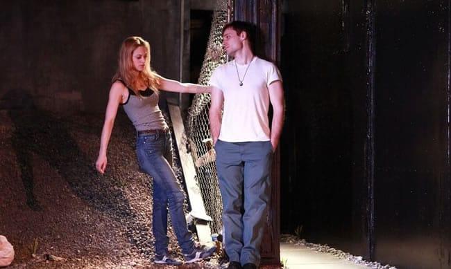 Marin Ireland and Josiah Bania in Ironbound at Rattlestick Playwrights Theater (Photo: Sandra Coudert)