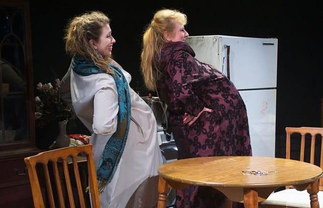 Hanna Bondarewska as Antonia and Moriah Whiteman as Margherita in They Won't Pay? We Won't Pay from Ambassador Theater (Photo: Valentin Radev)