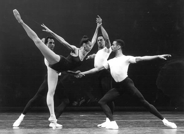 Fabian Barnes (right) performing with the Dance Theatre of Harlem (courtesy of Dance Institute of Washington)