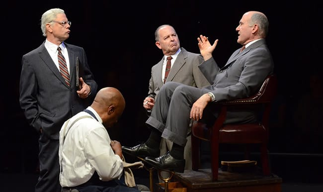 (l-r) Stephen F. Schmidt, David Emerson Tony, Richard Clodfelter and Lawrence Redmond in All the Way at Arena Stage at the Mead Center for American Theater. (Photo: Stan Barouh)