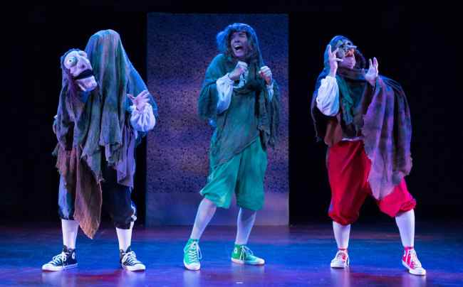 Reduced Shakespeare Company in William Shakespeare's Long Lost First Play (abridged) at Folger Theatre (Photo: Teresa Wood