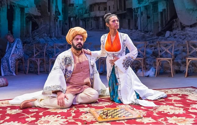 Austin Durant & Shiva Kalaiselvan in Nathan the Wise at Classic Stage Company (Photo: Richard Termine)
