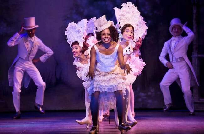 "Adrienne Warren and the company of Shuffle Along doing ""I'm Just Wild About Harry"" (Photo: Julieta Cervantes)"
