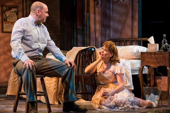 Chris Genebach as Mitch and Beth Hylton as Blanche in A Streetcar Named Desire at Everyman Theatre (Photo: ClintonBPhotography)