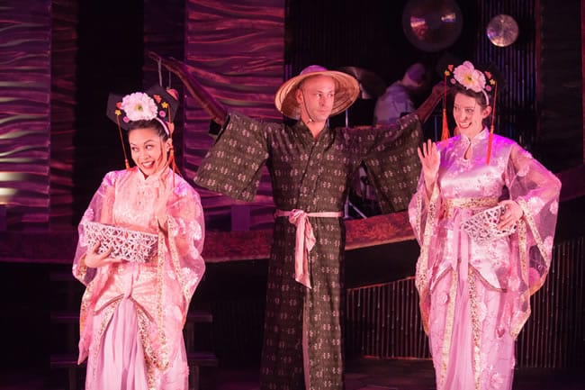 "(l-r) Justine ""Icy"" Moral, Ashley Ivey, Natalie Cutcher in Journey to the West, Constellation Theatre (Photo: DJ Corey)"