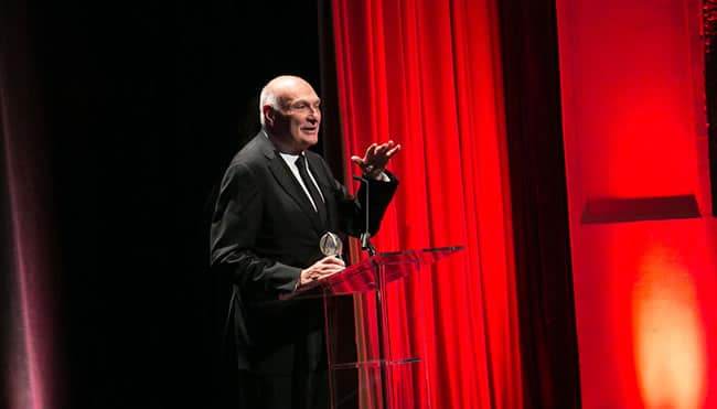 As Artistic Director of Shakespeare Theatre Company, Michael Kahn got plenty of onstage time accepting awards for Salome at the 2016 Helen Hayes Awards (Photo: Daniel Schwartz Photography)