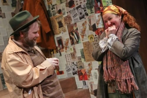 Kerri Rambow with Sasha Olinick in A Man, His Wife and His Hat at Hub Theatre (Photo: Melissa Blackall)