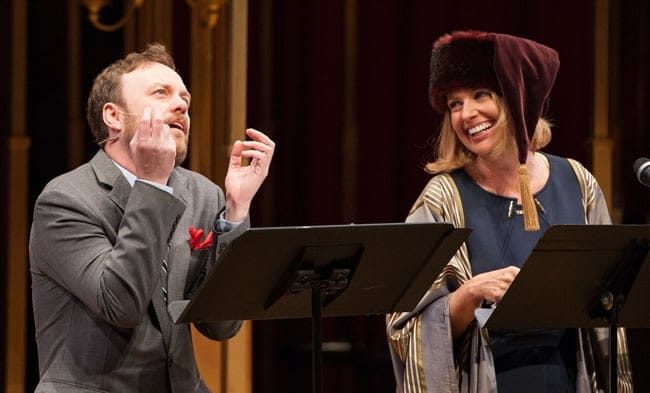 Tom Story and Rebecca Cooper in Heavy Lies the Head, produced by Will on the Hill (Photo: Margo Schulman)