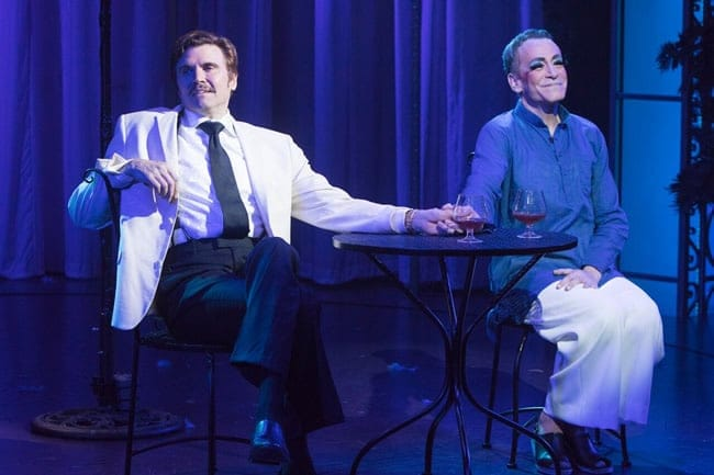 Brent Barrett as Georges and Bobby Smith as Albin in La Cage Aux Folles at Signature Theatre (Photo: Christopher Mueller