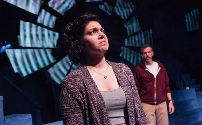 Kari Ginsburg and Chad Wheeler in Keegan Theatre's Next to Normal (Photo: C. Stanley Photography)