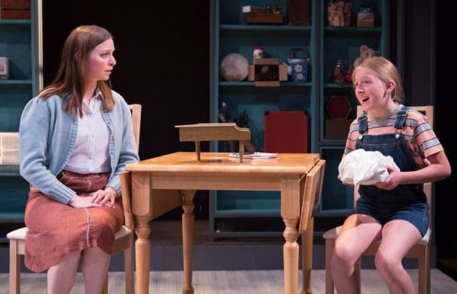 """Megan Reichelt as Millie and Charlotte """"Lottie"""" Doughty as Girl in Static at CulturalDC's Source Festival (Photo: Teresa Wood)"""