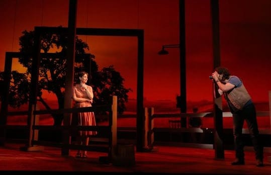 Elizabeth Stanley and Andrew Samonsky in The Bridges of Madison County (Photo courtesy of The Kennedy Center)