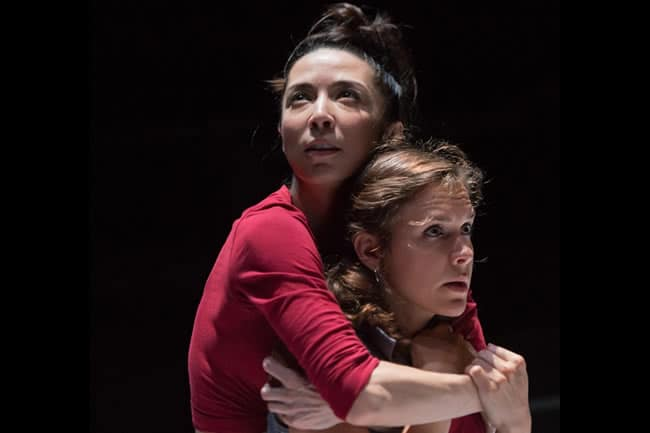 Joey Parsons and Rachael Balcanoff in Not Medea at Contemporary American Theater Festival (Photo: Seth Freeman)
