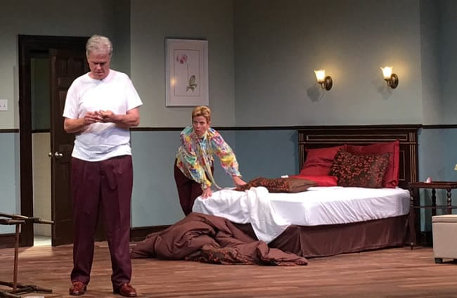 Dana (Scott Galloway) and Carolyn (Adele Robey in Riches (Photo courtesy of Anacostia Playhouse)