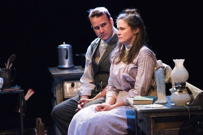 Ted Koch and Jesssica Wortham in The Second Girl at Contemporary American Theater Festival (Photo: Seth Freeman)