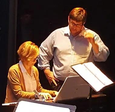 Harvey Droke with Barbara Wilkinson, music director of Song Reader