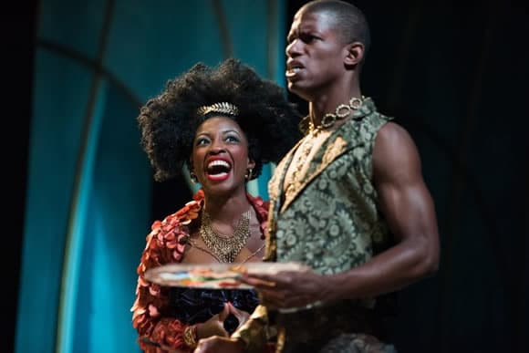 Bianca Laverne Jones and Damian Thompson in The Wedding Gift at Contemporary American Theater Festival (Photo: Seth Freeman)