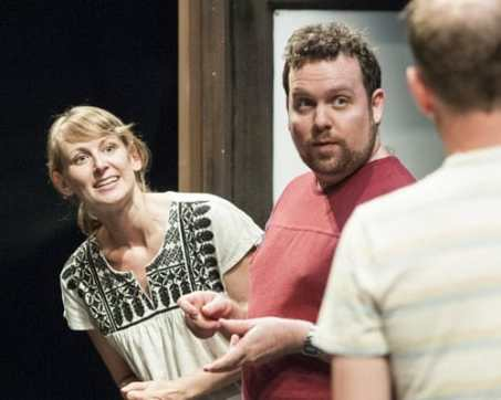 Molly Thomas, Connor Ratliff, and Brandon Scott Jones in We Know How You Die at Woolly Mammoth Theatre (Photo: Teresa Castracane)