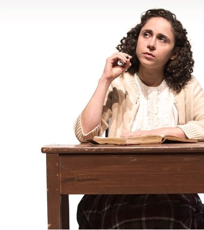 Carolyn Faye Kramer plays Anne Frank in the Olney Theatre production