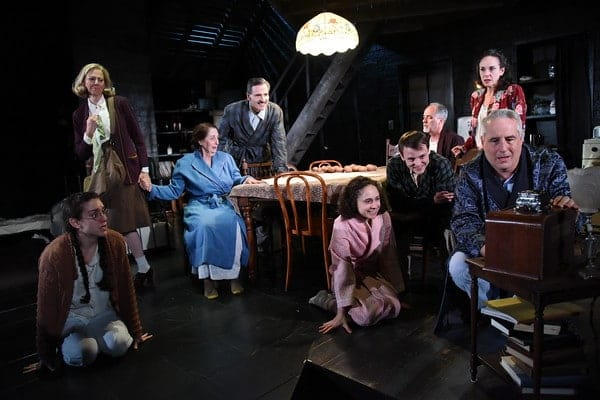 The cast of Olney Theatre Center's production of The Diary of Anne Frank (Photo: Stan Barouh)