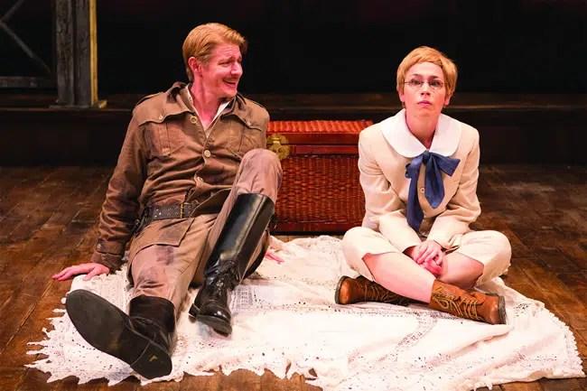 Christian Pedersen and Laura C. Harris in Cloud 9 at Studio Theatre. (Photo: Teresa Wood)