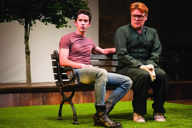 (l-r) Wyatt Fenner and John Scherer in Cloud 9 at Studio Theatre. (Photo: Amy Horan)