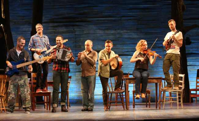 The musicians in the Ford's Theatre production of Come From Away (Photo: Carol Rosegg)