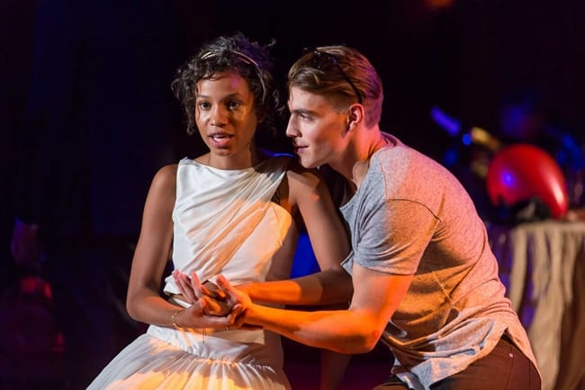 Ayana Workman as Juliet and Andrew Veenstra as Romeo in Romeo and Juliet at Shakespeare Theatre Company. (Photo: Scott Suchman)