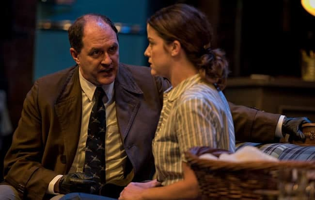 Bruce Randolph Nelson and Megan Anderson in Wait until Dark at Everyman Theatre (Photo: ClintonBPhotography)