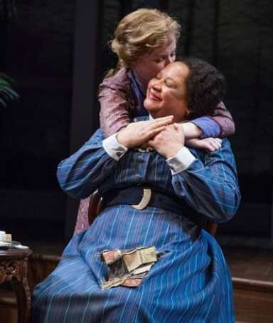 Megan Graves as Alexandra Giddens and Kim James Bey as Addie in Lillian Hellman's The Little Foxes at Arena Stage (Photo: C. Stanley Photography)