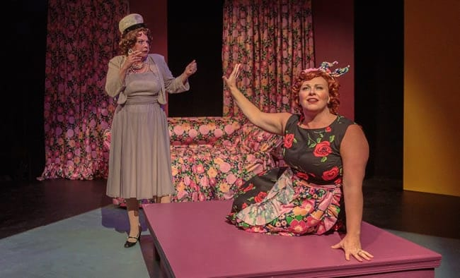 (l-r) Kathy Halenda and Katie McManus in Ruthless the Musical at Creative Cauldron (Photo: Keith Waters, Kx Photography)