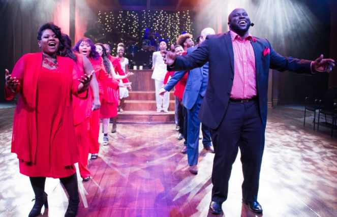 Jocelyn Jenkins, Branden Mack and the Ensemble of Black Nativity at Theater Alliance (Photo: C. Stanley Photography)